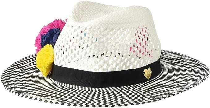 Betsey Johnson Women's Pom Pom Panama Hat