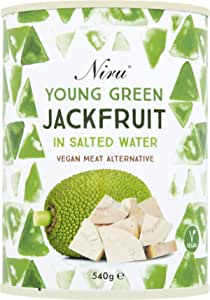 Niru Young Green Jack Fruit (Pack de 6) perfecta alternativa de carne vegana | De origen ético | Sin gluten y sin OMG | Sin conservantes