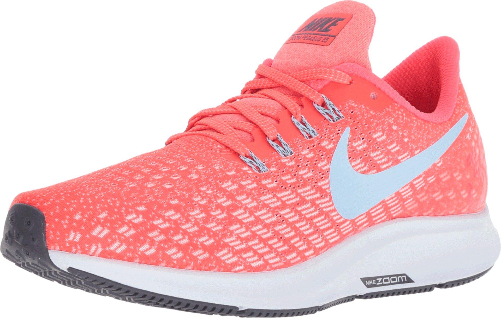 324108f17 Nike Women's Air Zoom Pegasus 35 Running Shoes (12 B(M) US, Bright Crimson/Ice  Blue/Sail)