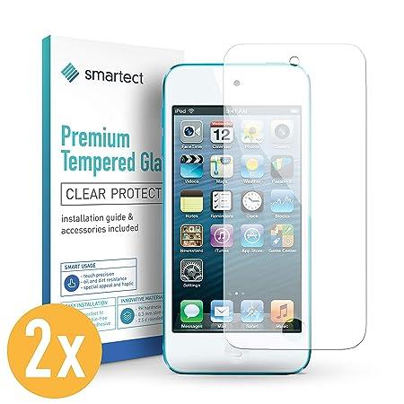 smartect Panzerglas für iPod Touch 5G / 6G [2 Stück] - Displayschutz mit 9H Härte - Blasenfreie Schutzfolie - Anti Fingerprin