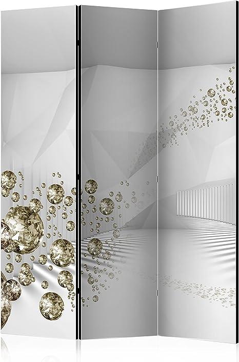 murando Biombo 3D Optica 135x172 cm de Impresion Bilateral en el Lienzo de TNT de Calidad Decoracion Foto Biombo de Madera con Imagen Impresa Separador Grande Home Office Gris a-A-0188-z-b: Amazon.es: Hogar