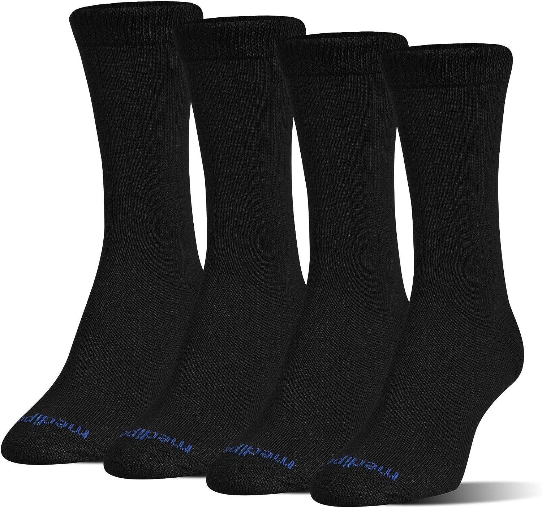 black MediPEDS Womens NanoGLIDE Quarter Socks 4-Pack Shoe Size: 6-10