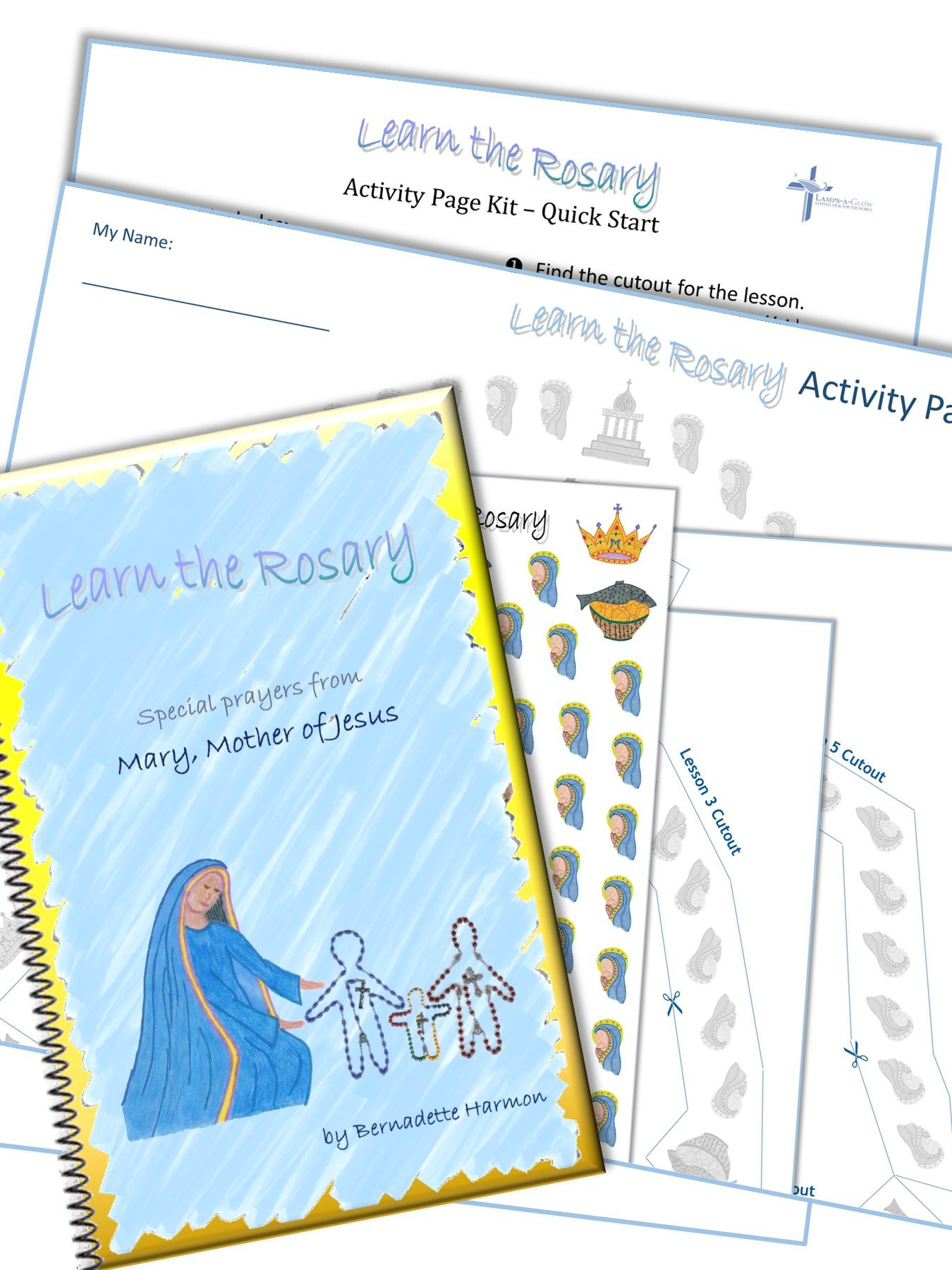 Children's Rosary Guide with Stickers