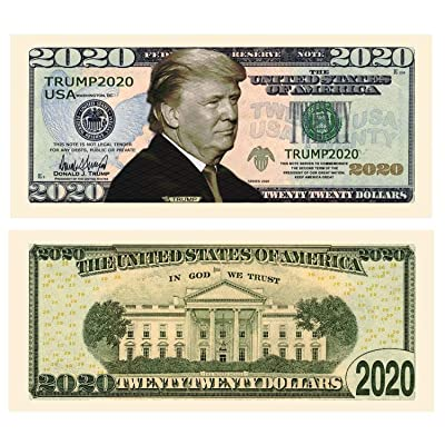 American Art Classics Pack of 10 - Donald Trump 2020 Re-Election Presidential Dollar Bill - Limited Edition Novelty Dollar Bill: Toys & Games