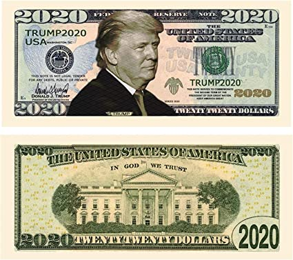 WHOLESALE LOT OF 100 2019 DONALD TRUMP NOVELTY MONEY MAKE AMERICA GREAT AGAIN US
