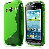 Schutzhülle für Samsung Galaxy Xcover 2 S7710 - Slim Case Hülle Tasche Handyhülle in S-line Grün von PrimaCase