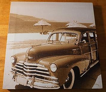 Amazon Com Rustic Vintage Woody Beach Wagon Surfing