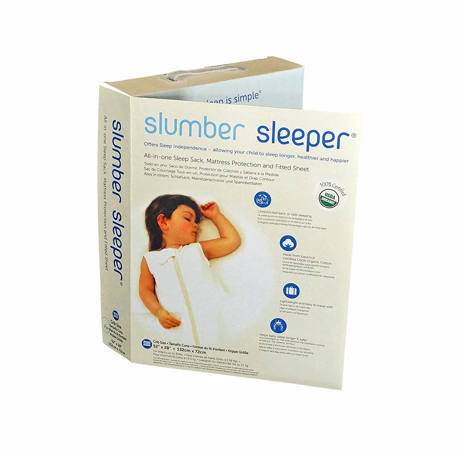 Amazon.com : Slumber Sleeper Twin Size in Organic Cotton : Crib Bedding Sets : Baby