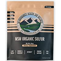 MSM Organic Sulfur Crystals by No Boundaries Health and Wellness – All-Natural,...