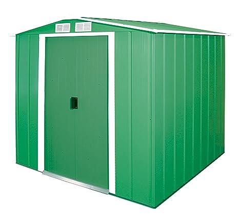 Duramax 6 x 6 ft Eco Metal cobertizo con OW Trim – verde
