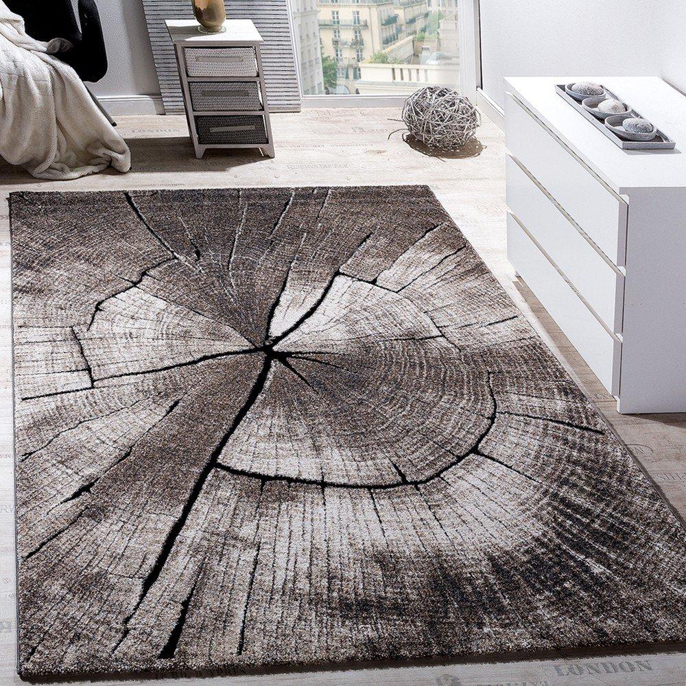 AuBergewohnlich Paco Home Edler Designer Teppich Wohnzimmer Holzstamm Baum Optik Natur Grau  Braun Beige, Grösse:80x150 Cm: Amazon.de: Küche U0026 Haushalt