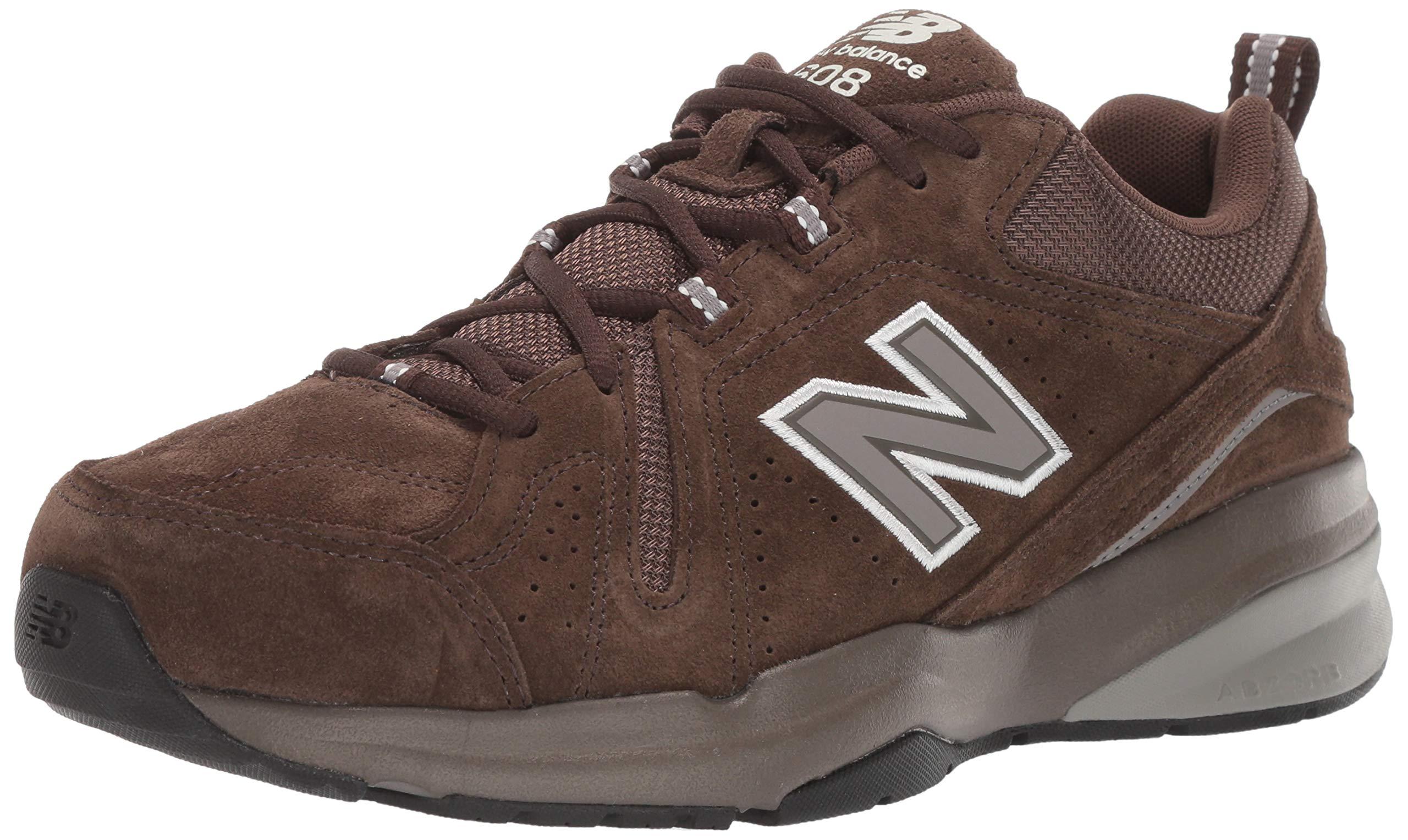 New Balance Men's 608v5 Casual Comfort Walking Shoe, Chocolate Brown/White, 6.5 D US