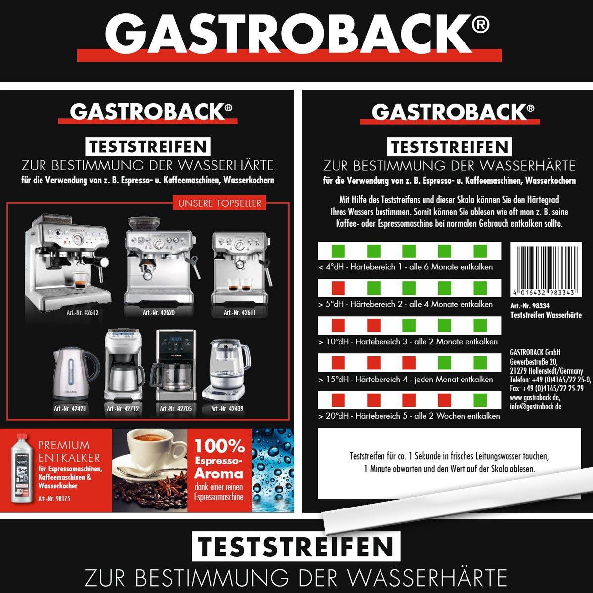 Gastroback bandelettes de test pour mesurer la dureté de l'eau