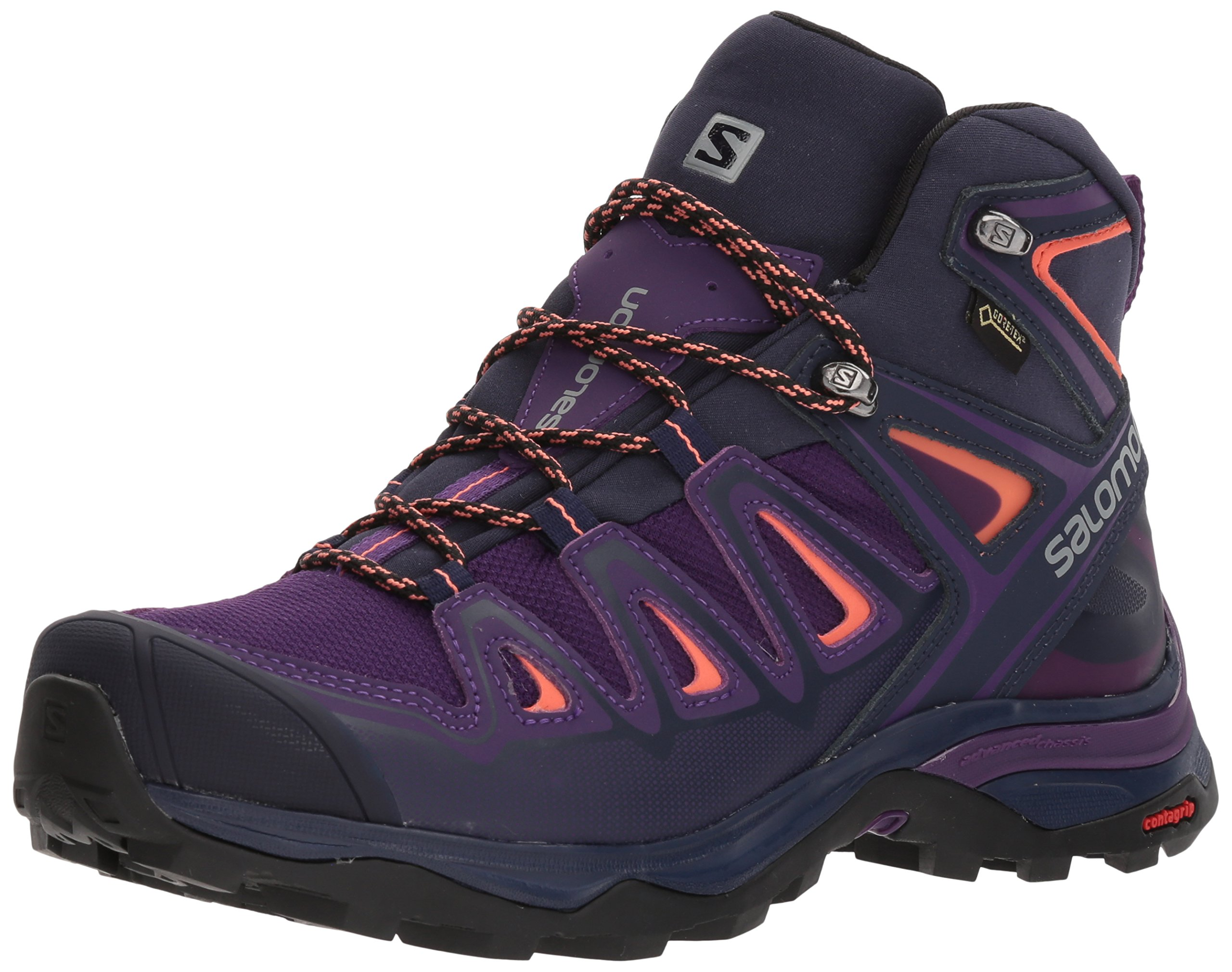 Salomon Women's X Ultra 3 Mid GTX W Hiking Shoe,Acai,9 M US