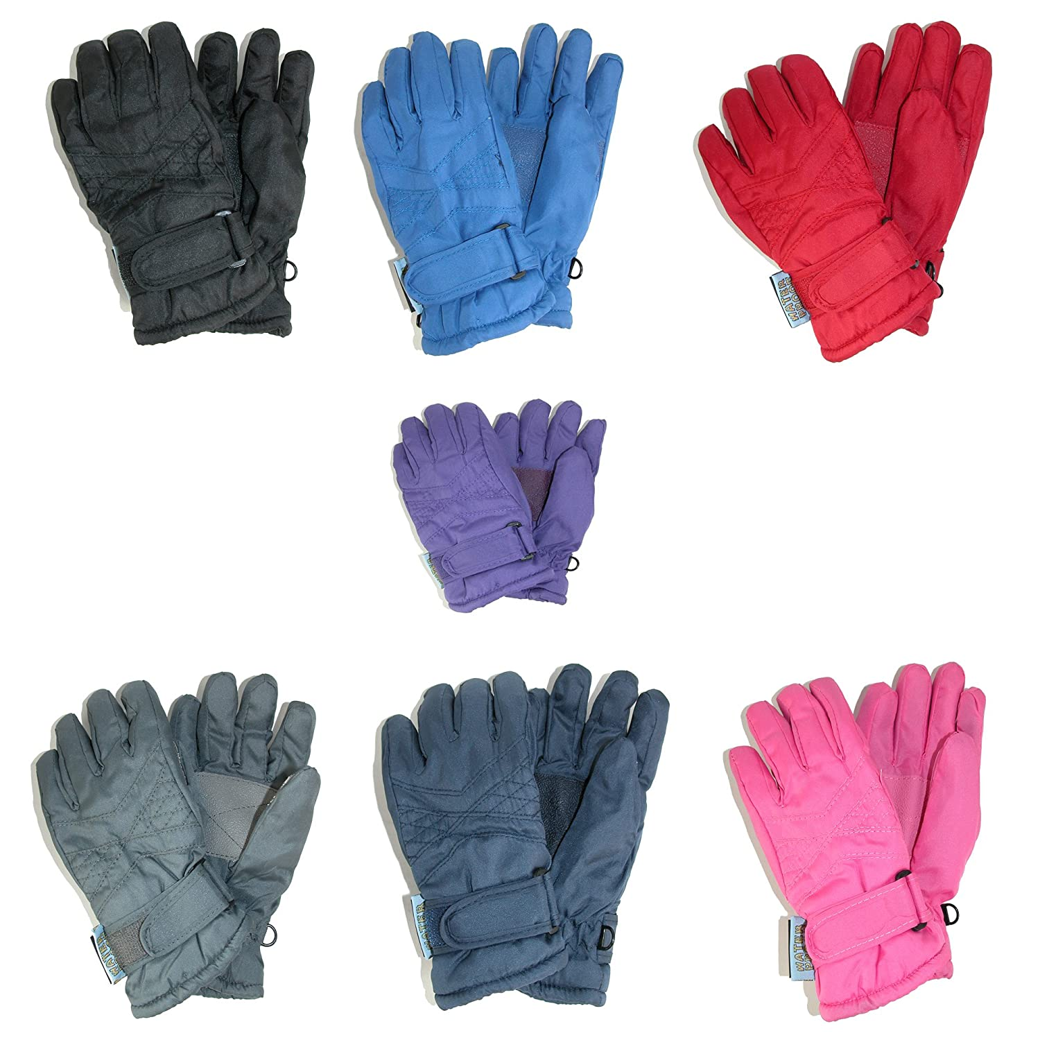 CTM® Toddlers Thinsulate Lined Water Resistant Winter Gloves, Purple RG-SK2942-PUR