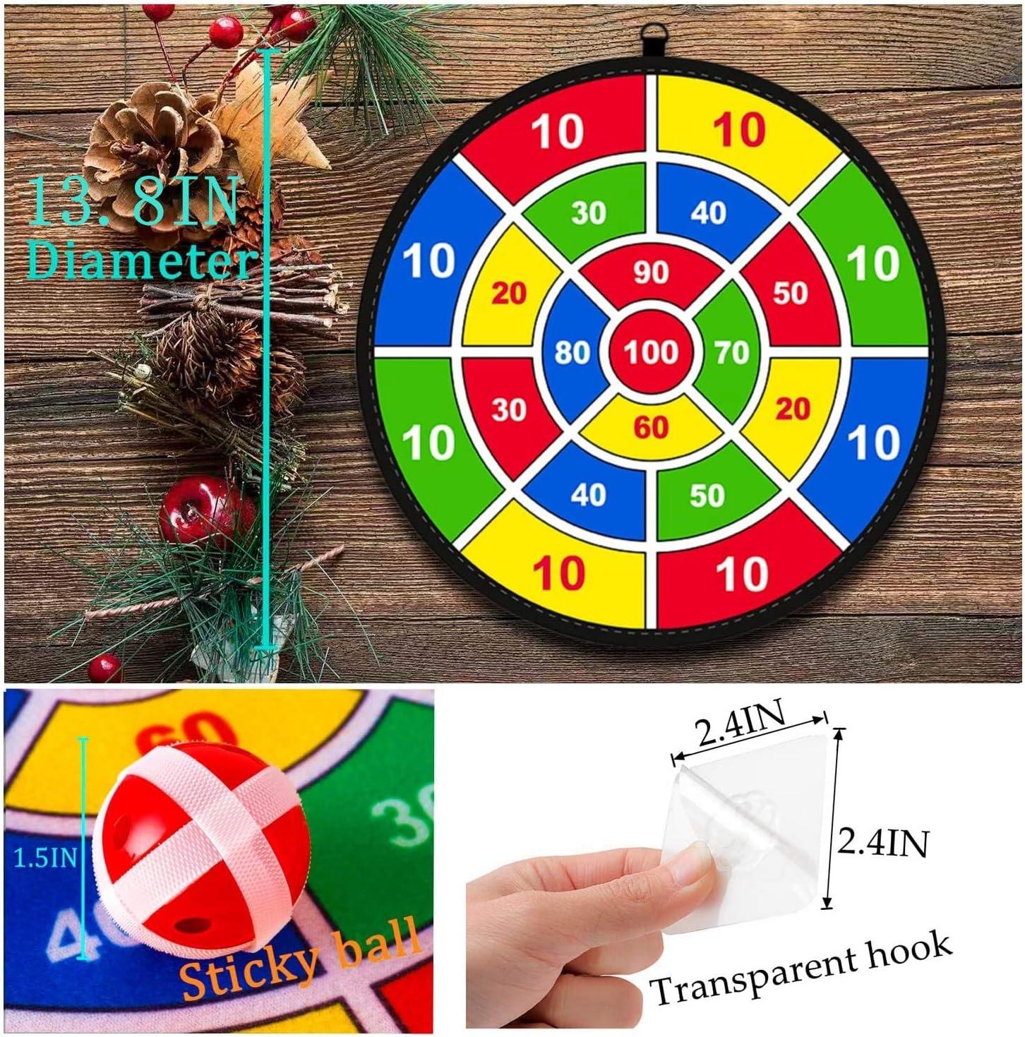 Juego para niños Lbsel Dart Board con 8 bolas Juegos de mesa para niños Toy-Safe Dart Game-regalo para niños elección de juego interior al aire libre-13.8 Inches (35cm): Amazon.es: Deportes y aire