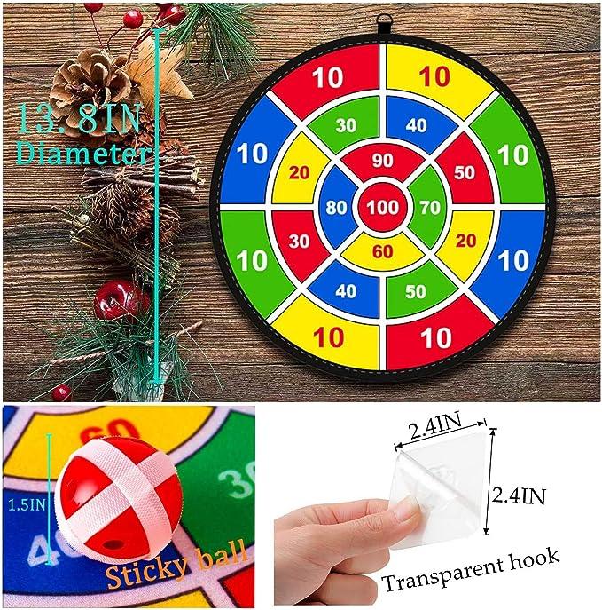 Lbsel Tema de fiesta de Halloween Juego para niños Dart Board con 8 bolas Juegos de mesa para niños Toy-Safe Dart Game-regalo para niños elección de juego interior al aire libre-13.8 Inches (