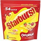 STARBURST--Original Fruit Chews--Assorted Fruity Candy--Strawberry, Cherry, Lemon, Orange Flavored Chews--Party Size Bag--54 Ounces