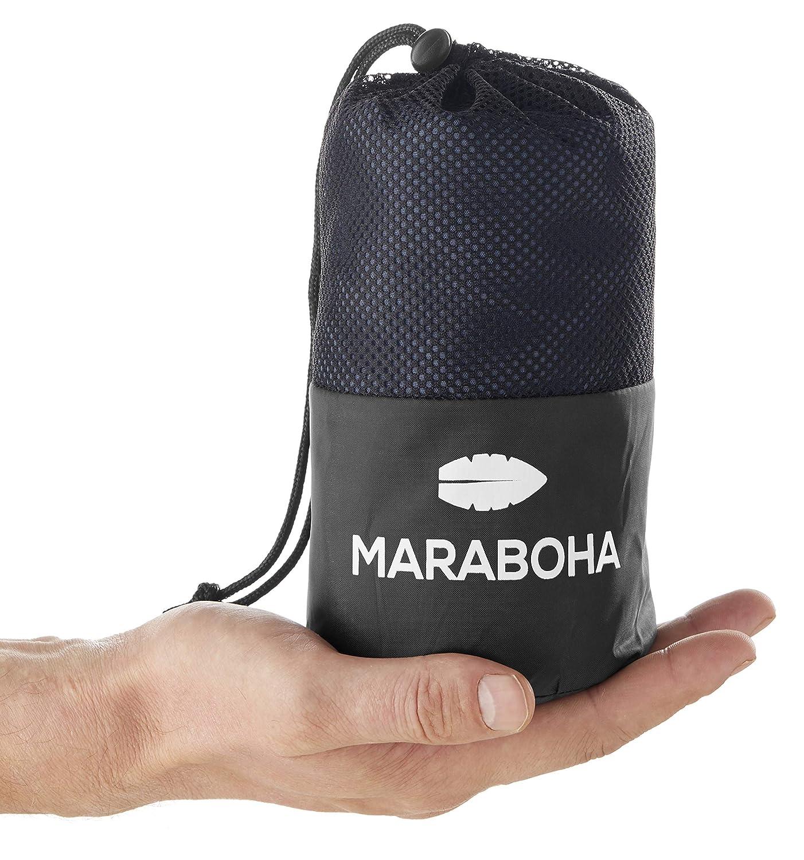 Maraboha - Saco de dormir ligero - de microfibra suave y sedosa, saco de dormir de viaje ultraligero, saco de dormir Inlett - perfecto para viajes de ...
