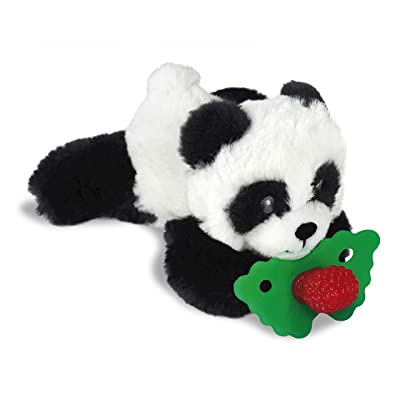 RaZbaby RaZbuddy RaZberry Teether/Pacifier Holder w/Removable Baby Teether Toy - 0M+ - Bpa Free - Panda : Baby