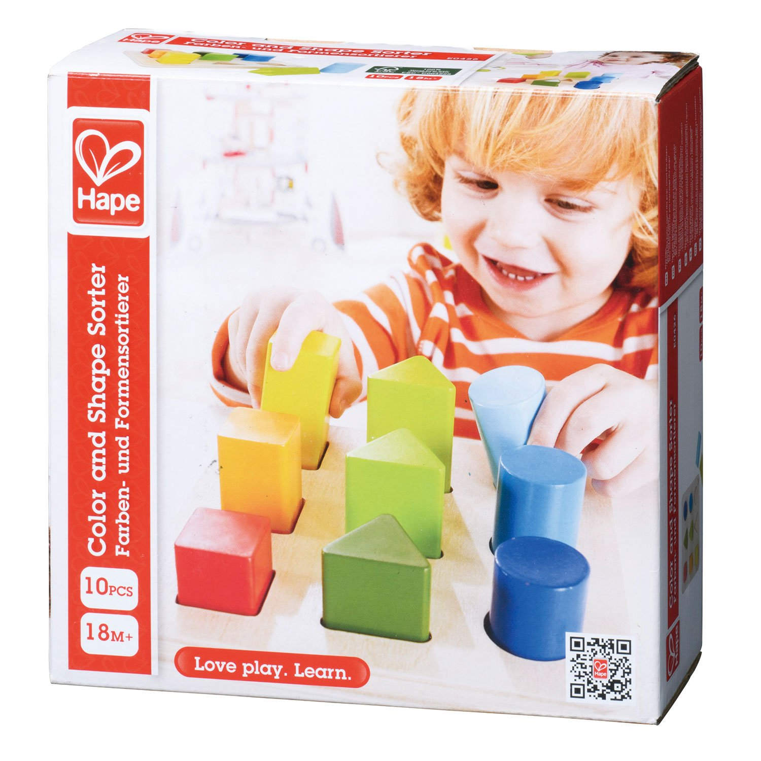Hape Color and Shape Wooden Block Sorter by Hape (Image #2)