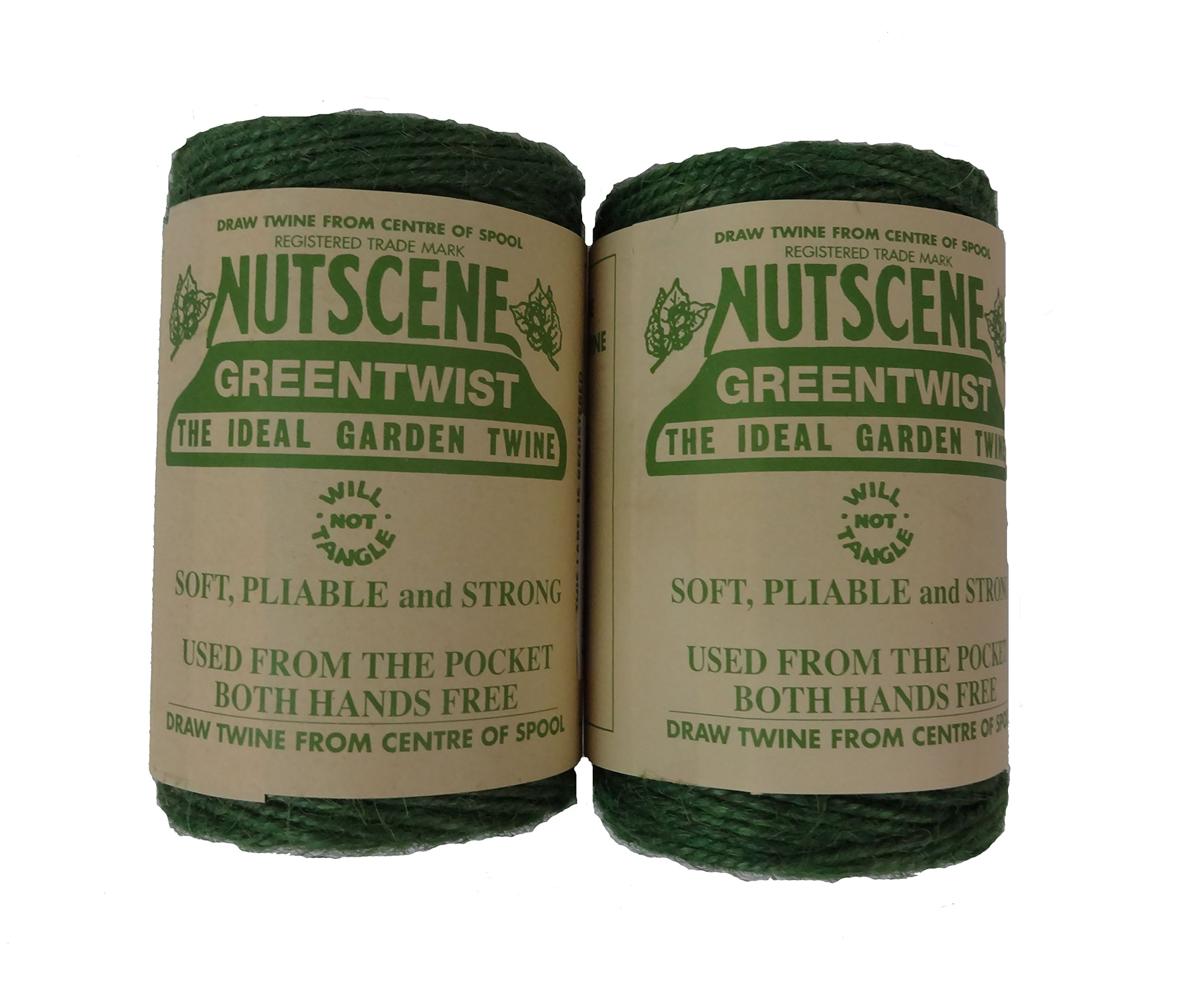 Bosmere K807G 2-Pack Nutscene Colored 3-Ply Twine, 394-Feet per Spool, Green by Bosmere