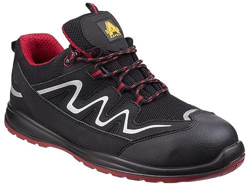 Centek Mens FS337 Leather S1 Work Safety Shoe Black j6HyQLp40
