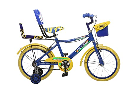 Outdoor Bikes SELFY 16T Blue Yellow Bicycle for 5 to 8 Years Age Group (Assembly Required by Customer, Instruction Manual & Toolkit Provided)