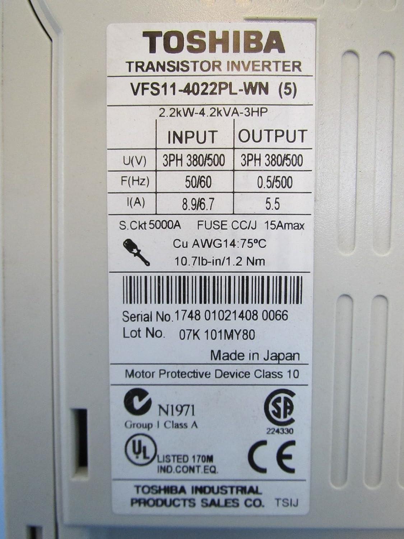Toshiba Vf S11 Vfs11 4022pl Wn 5 3hp 380 500 V Ac Vs Drive Wiring Diagram Transistor Inverter Industrial Scientific