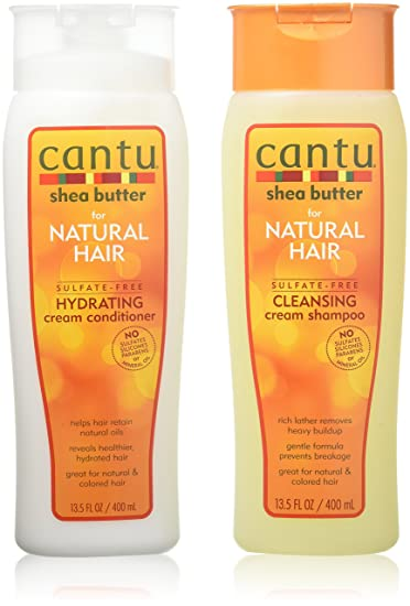 amazon com cantu shea butter for natural hair double combo shampoo
