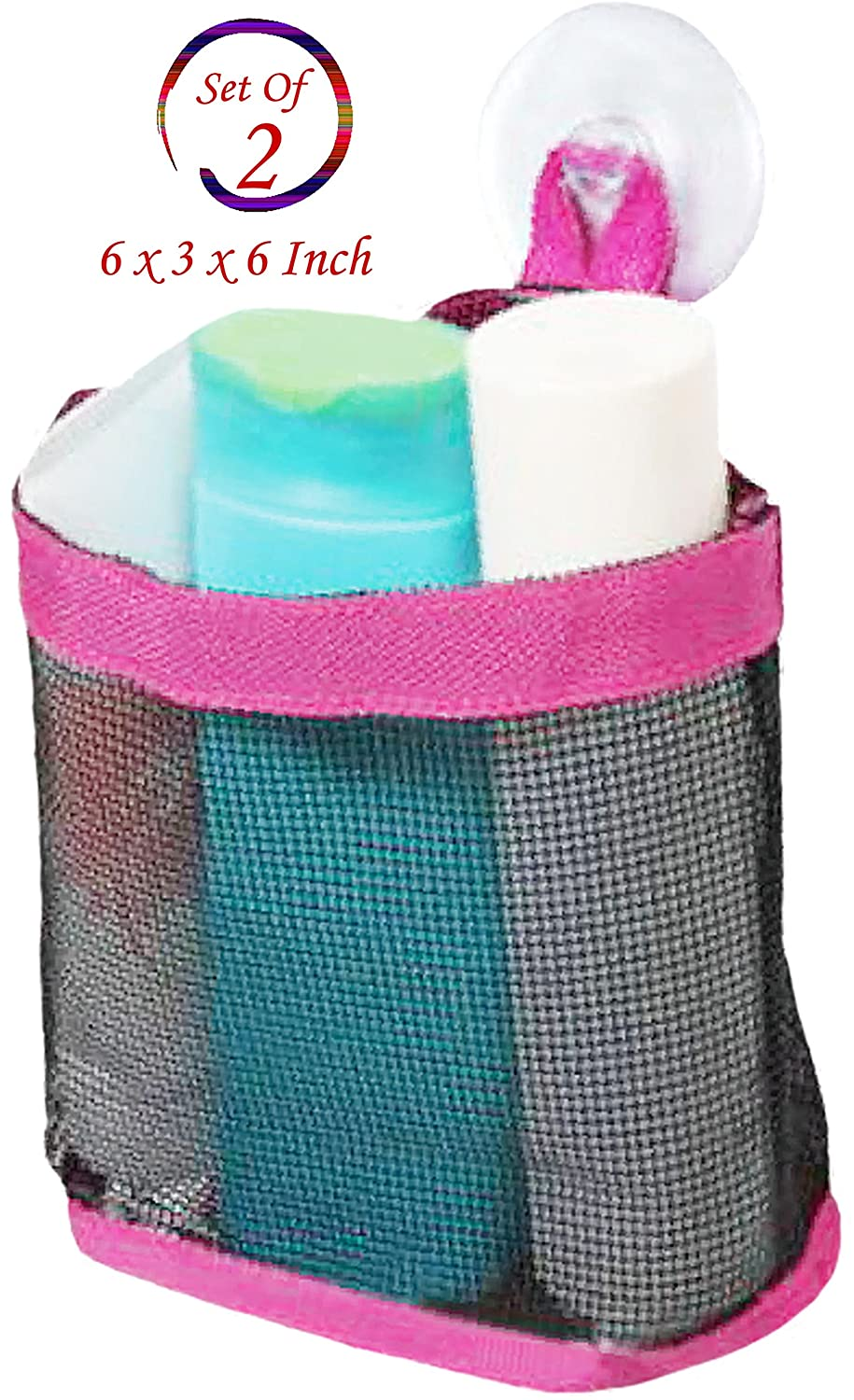 Amazon.com: Set of 2 Mesh Bath and Hanging Toiletry, Shower ...