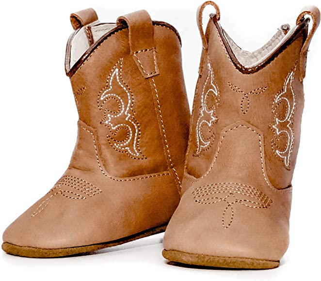 Real Leather Soft Sole Cowboy Boots