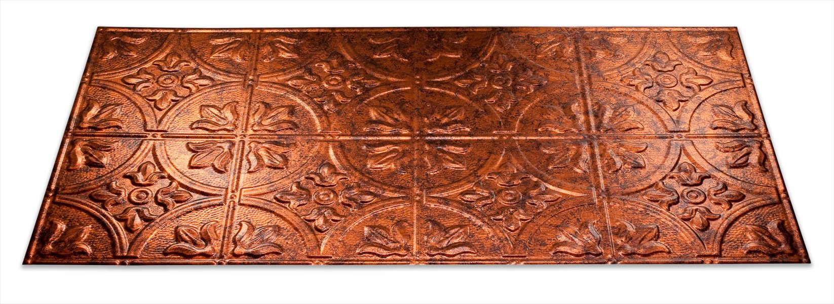 Fasade Easy Installation Traditional 2 Moonstone Copper Glue Up Ceiling Tile / Ceiling Panel (2' x 4' Panel)