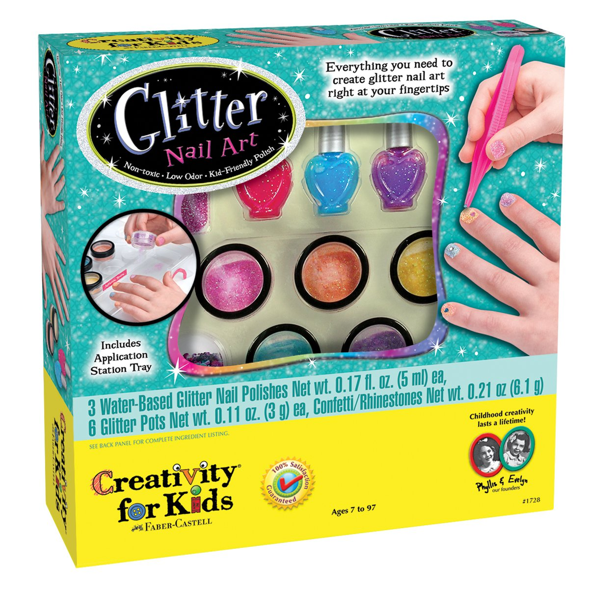 Amazon.com: Creativity for Kids Glitter Nail Art - Glitter Manicure ...