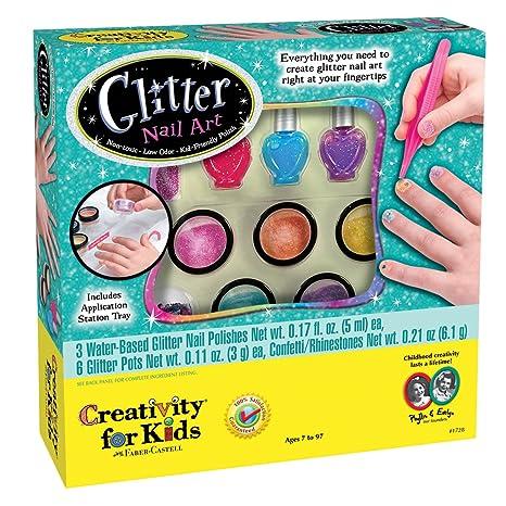Amazon Com Creativity For Kids Glitter Nail Art Glitter Manicure