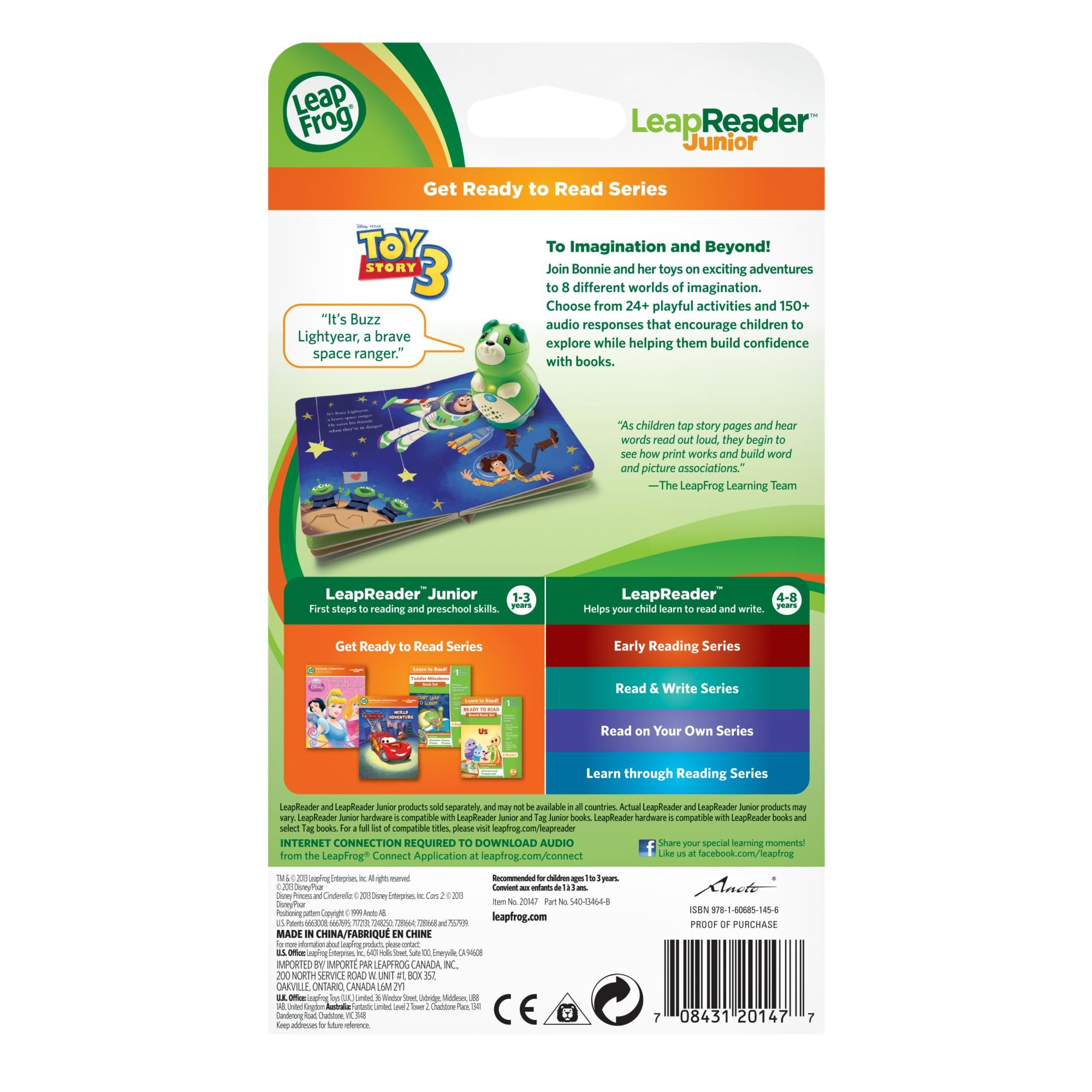 LeapFrog LeapReader Junior Book: DisneyPixar Toy Story 3: To Imagination and Beyond (works with Tag Junior) by LeapFrog (Image #5)