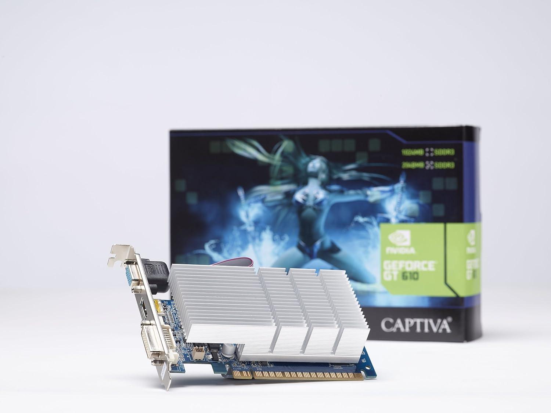 Captiva Geforce GT610 MIT CUDA - Tarjeta gráfica pasiva de 2 ...