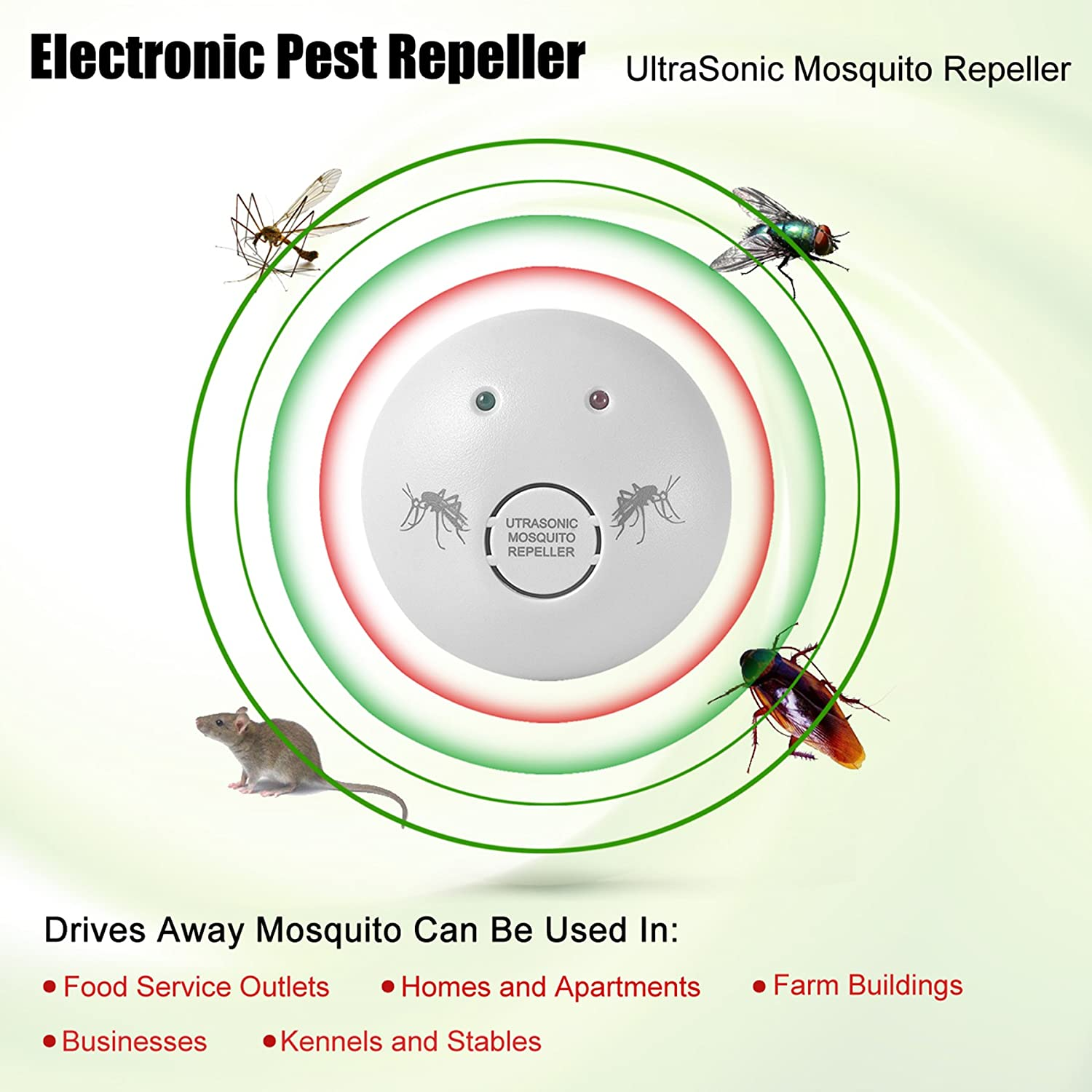 Pest Control Ultrasonic Repeller Electronic Plug In Mosquito Insect And Bug Kit Repellent Indoor For Mosquitoes Mice Spiders Ant Rats Roaches Bugs