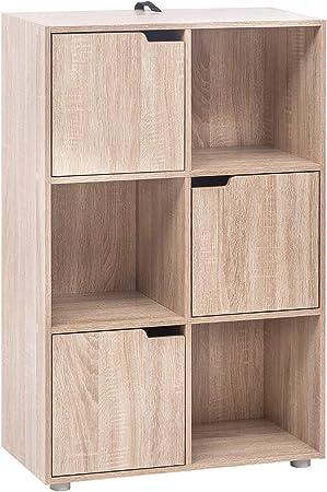 Woltu Bibliotheque Armoire Etagere De Rangement 60x30x91cm En Mdf