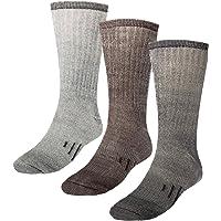 3 Pairs Thermal 80% Merino Wool Socks: Thermal Socks, Crew Socks, Hiking Socks for Winter, Men, Women, Kids