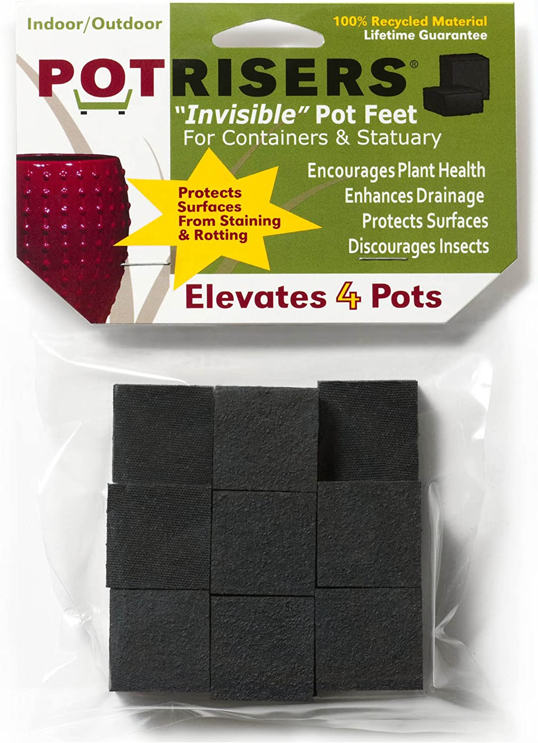 Potrisers 16 Pack of Standard Risers supports 4-5 smaller to medium pots or statuary