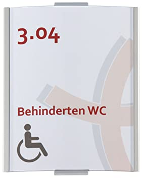 Placa para puerta Frankfurt DIN A6, 148 x 120 mm, aluminio ...