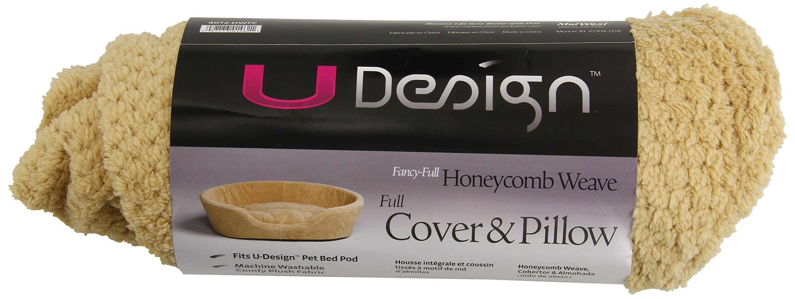MidWest Quiet Time U-Design Small Honeycomb Weave Pattern Pod Cover and Pet Bed Pillow 23'' L x 16'' W x 9.5'' H