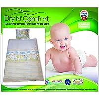 "Baby Crib Duvet Cover Set MONKEY- 100% COTTON Duvet Cover Set - 3 Pieces- Duvet Cover Size 35"" x 47""- 2 Pillow covers Size 14"" x 18"" - Dry N Comfort"
