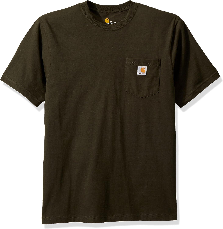 Carhartt Mens K87 Workwear Pocket Short Sleeve T Shirt Work Utility T-Shirt
