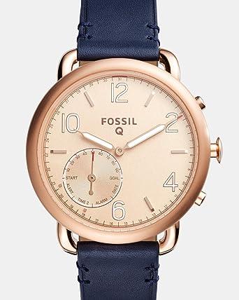 6d16c0741f54 Amazon.com  Fossil Hybrid Smartwatch - Q Tailor Dark Navy Leather ...