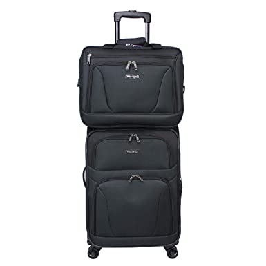 World Traveler Embarque Collection Super Lightweight 2-Piece Carry-On  Spinner Luggage Set - 77ddd536a4a7