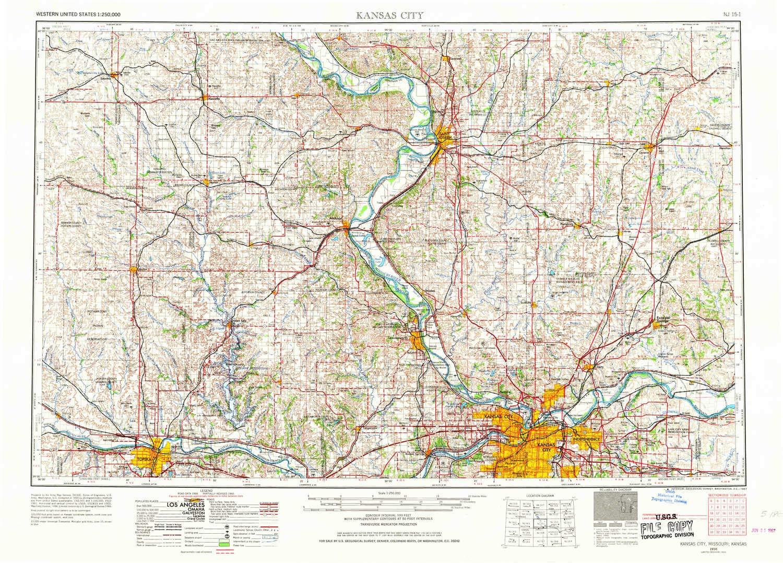 Amazon.com : YellowMaps Kansas City MO topo map, 1:250000 ...