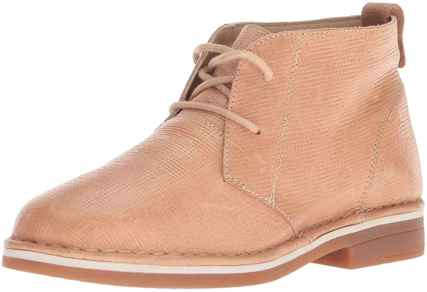 Hush Puppies Women's Cyra Catelyn Ankle Boot B0746XDSWK 8 W US|Natural Embossed Leather
