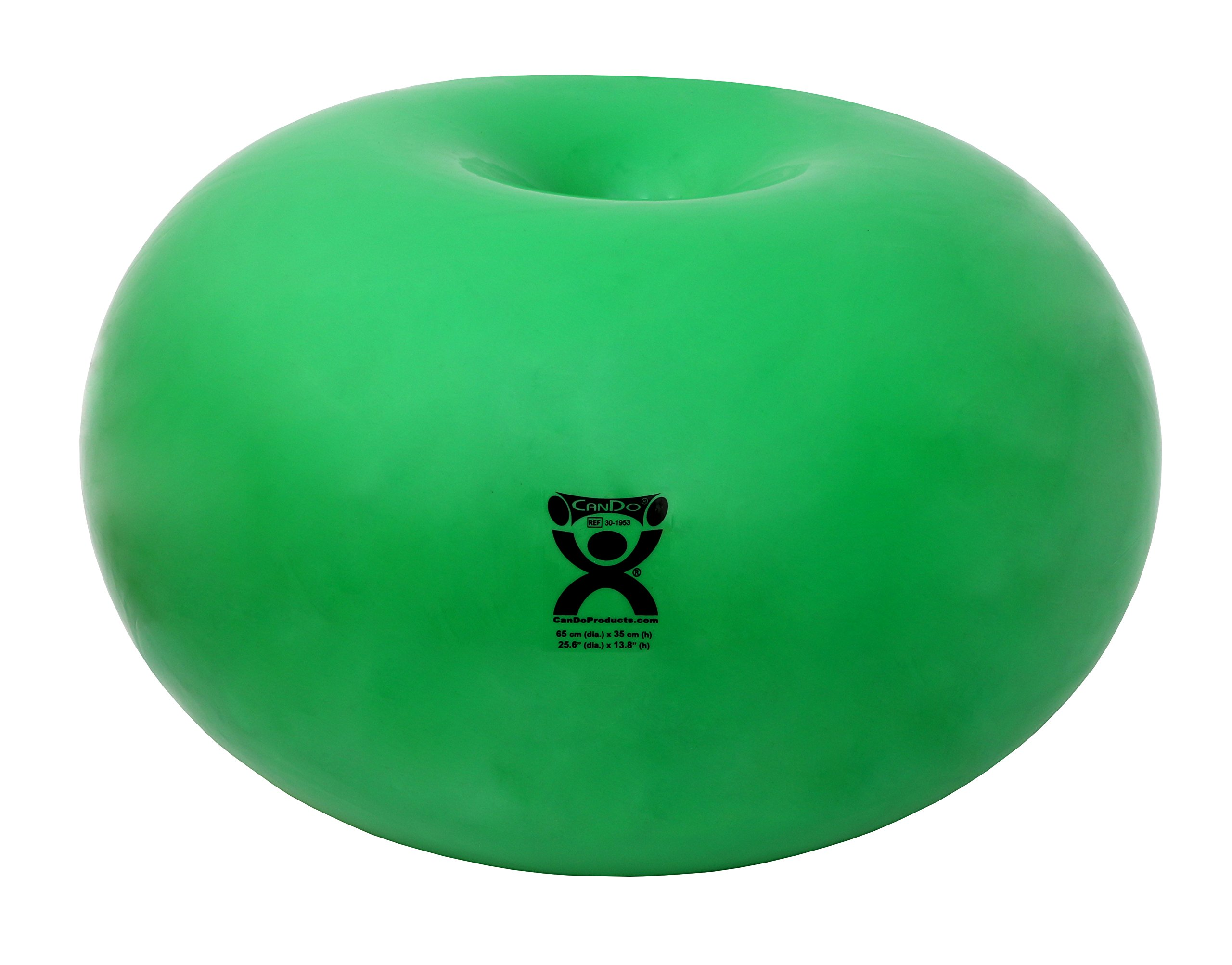 CanDo Donut Exercise, Workout, Core Training, Swiss Stability Ball for Yoga, Pilates and Balance Training in Gym, Office or Classroom. Green, 65 cm W x 35 cm by Cando